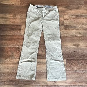 The North Face Tan corduroy bootcut pants size 4